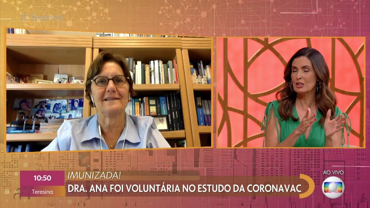 Dr. Ana foi voluntária no estudo da CORONAVAC