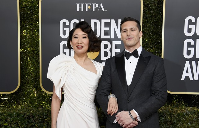Sandra Oh e Andy Samberg (Foto: Getty Images)