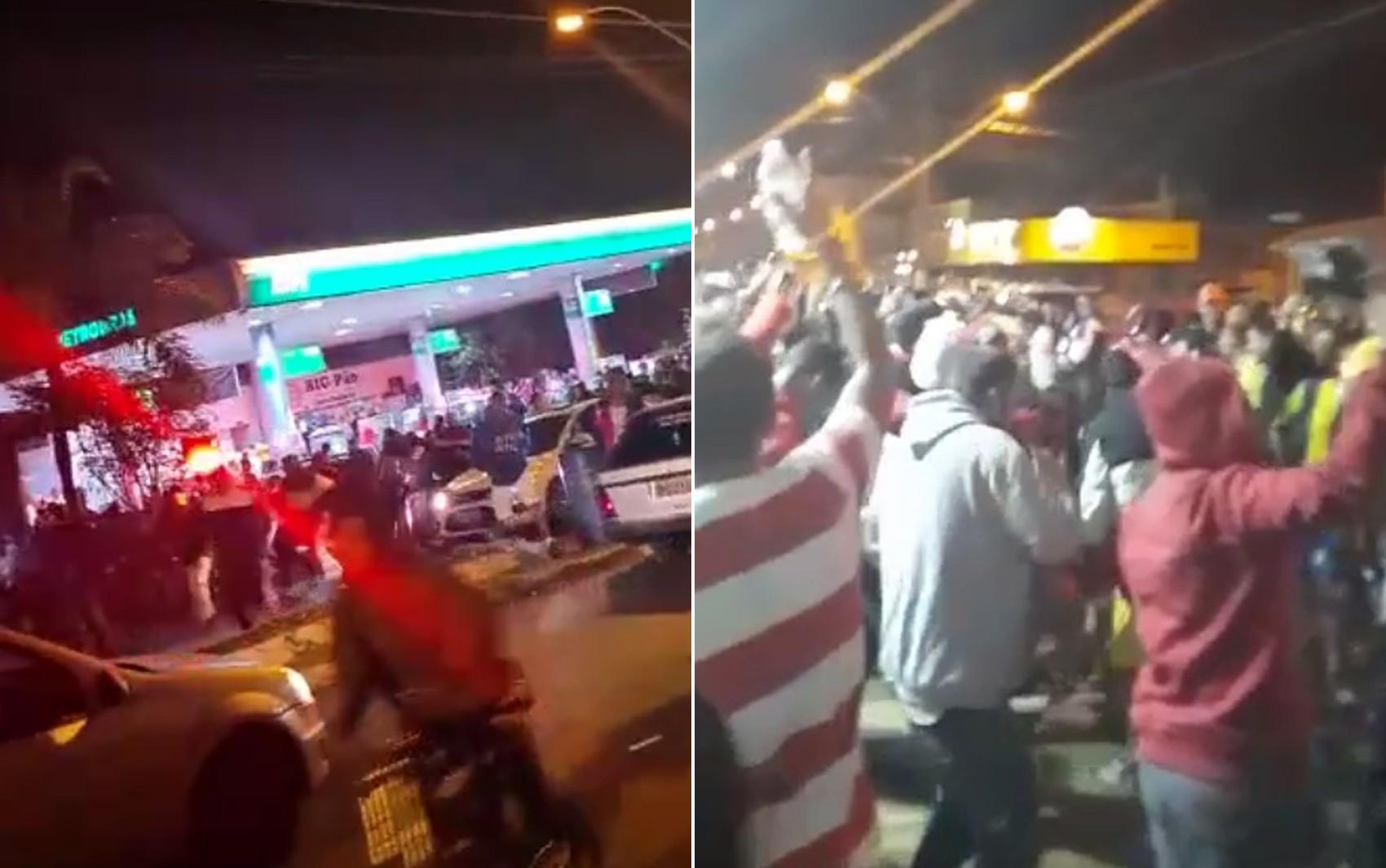 Polícia Militar dispersa multidão em 'pancadão' no Centro de Orlândia, SP; vídeo