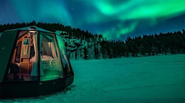 Os iglus são feitos de vidro aquecido (Foto: Divulgação)