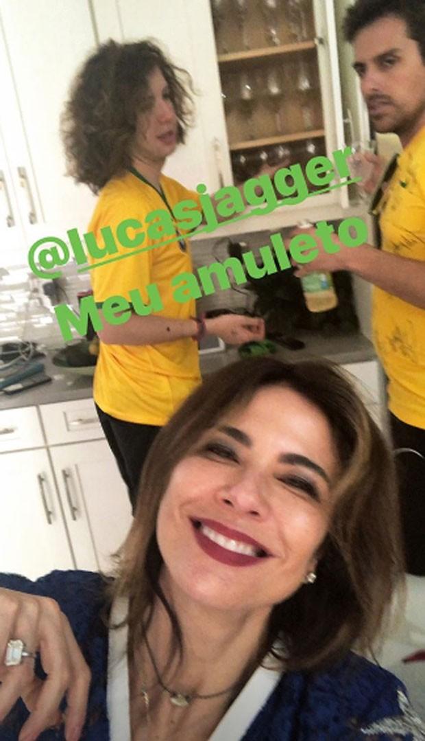 Luciana Gimenez e Lucas Jagger  (Foto: Reprodução)