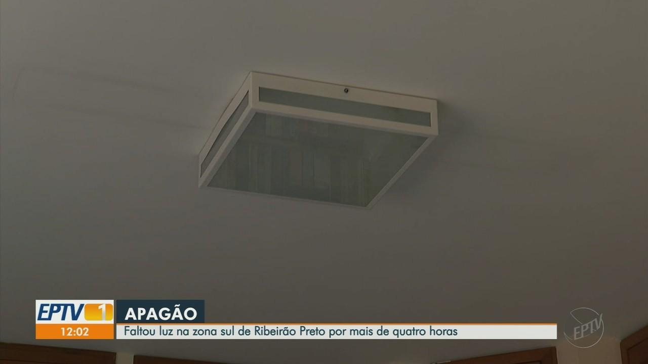 Moradores da zona sul de Ribeirão Preto, SP, ficam 4 horas sem energia elétrica