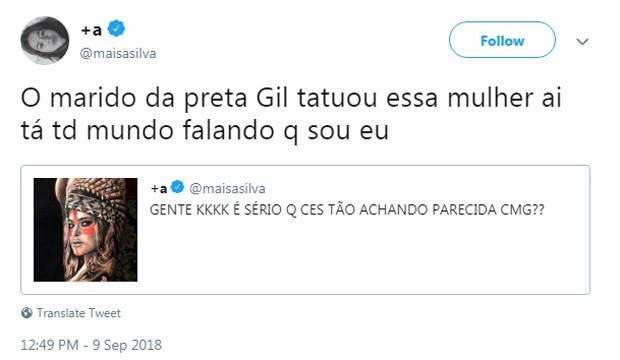 Comentário de Maísa Silva (Foto: Reprodução/Instagram)