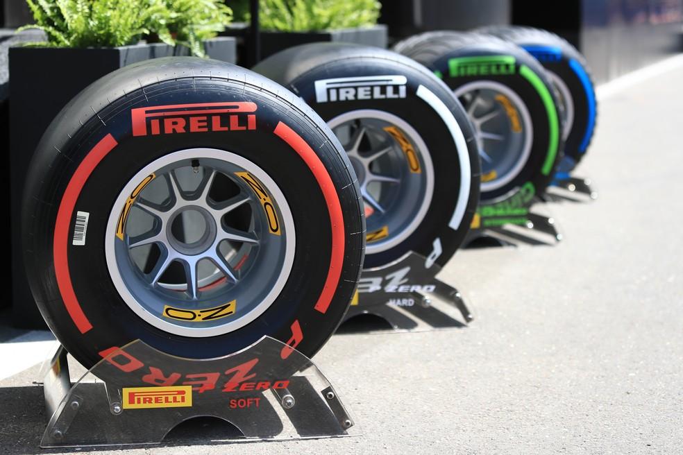 Pneus da Pirelli usados na temporada 2019 da F1 geraram polêmica — Foto: Getty Images