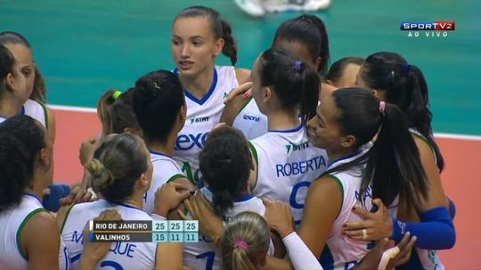 Em ritmo de treino, Rio bate estreante Valinhos-SP na abertura da Superliga