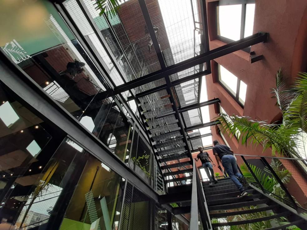 Espaço interno do Casarão da Inovação Cassina, em Manaus — Foto: Eliana Nascimento/G1