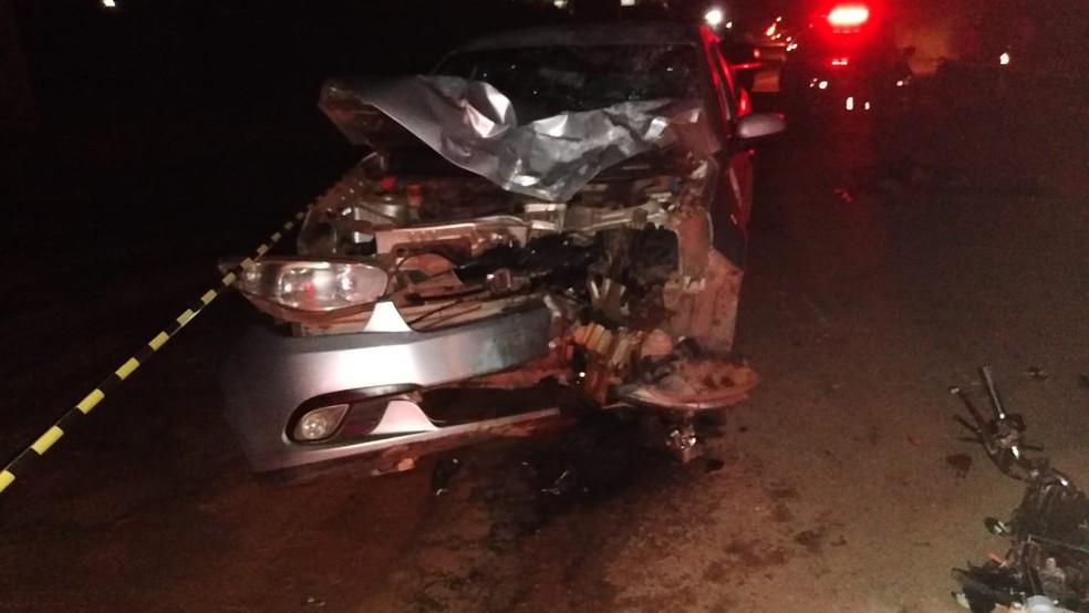 Batida entre dois veículos na Avenida Curuá-Una deixa um pessoa morta — Foto: Reprodução/Redes Sociais