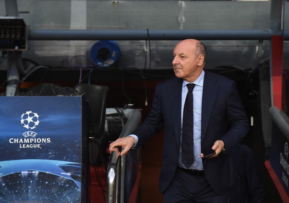 """Giuseppe Marotta, diretor executivo da Inter de Milão: """"Vemos Gabigol como Lautaro (Martínez), como um jogador que está crescendo ano a ano"""" — Foto: Claudio Villa/Inter via Getty Images)"""