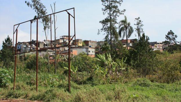 Terreno onde será construído condomínio para bolivianos tem 131 mil metros quadrados (Foto: VINÍCIUS MENDES/BBC NEWS BRASIL)