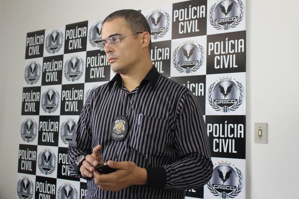 Delegado Tales Gomes. — Foto: Catarina Costa/G1