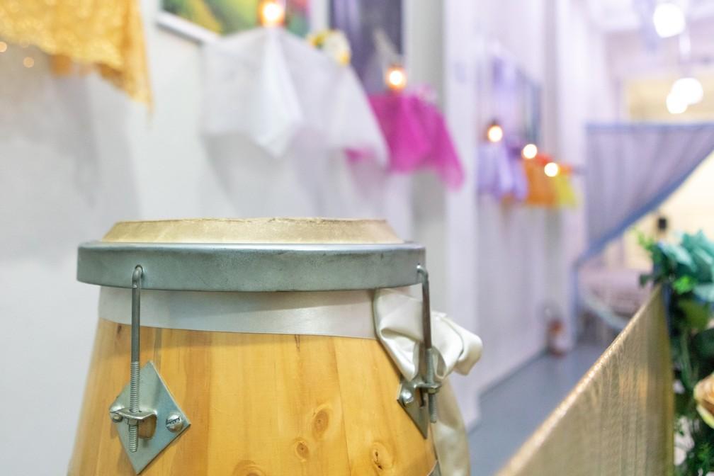 Detalhe do espaço do Centro Espiritualista de Umbanda (CEU) Estrela Guia, no bairro da Saúde, Zona Sul de SP — Foto: Celso Tavares/G1
