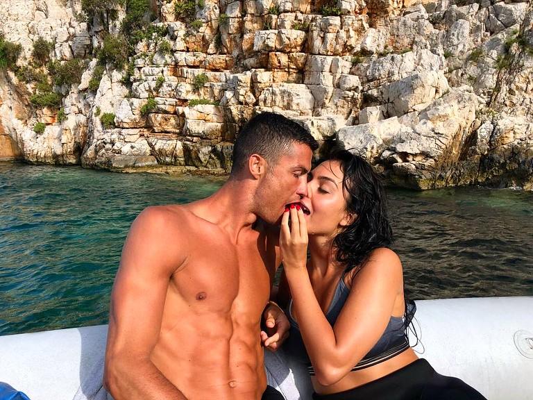 Cristiano Ronaldo e a modelo Georgina Rodríguez (Foto: Reprodução / Instagram)