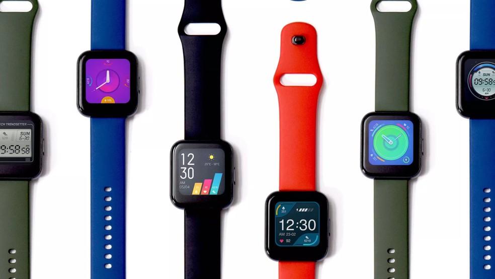Realme Watch chega com bateria para até 20 dias — Foto: Divulgação/Realme