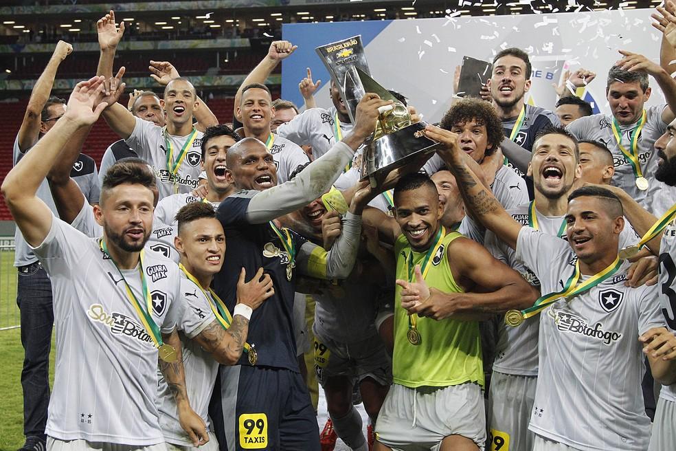 Botafogo foi campeão da Série B em 2013 — Foto: Vitor Silva / SSPress / Botafogo