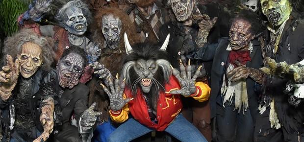 Heidi Klum homenageia Michael Jackson e vai de lobisomem à sua festa de Halloween (Foto: Getty Images)