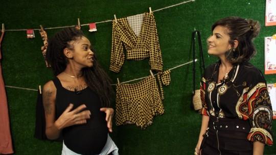 Paulinha e Gleice Silva garimpam peças fashions para grávidas