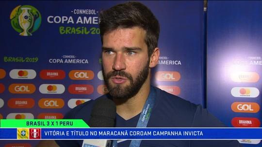 Alisson destaca superação da Copa América de 2016 para o título em 2019