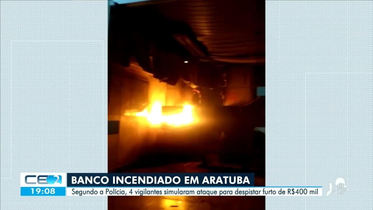 Vigilantes simulam ataque a banco para despistar furto de R$400 mil