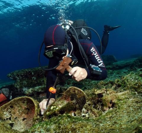 Navio romano naufragado há cerca de 1,8 mil anos é descoberto na Grécia