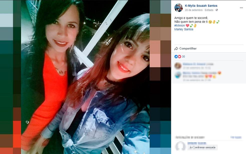 Jovens foram encontradas mortas em uma estrada de Correntina, no oeste da Bahia (Foto: Reprodução/ Facebook)