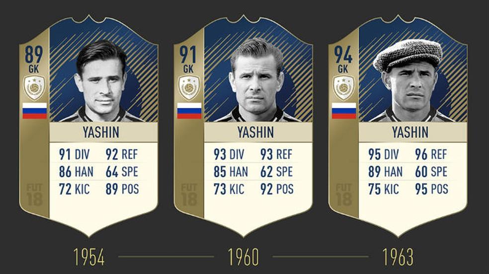FIFA 18: confira as três cartas de Yashin (Foto: Divulgação / EA)