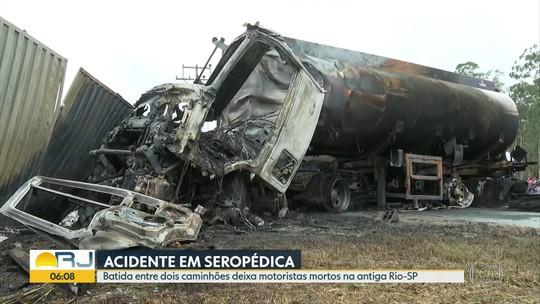 Acidente deixa dois motoristas mortos em Seropédica