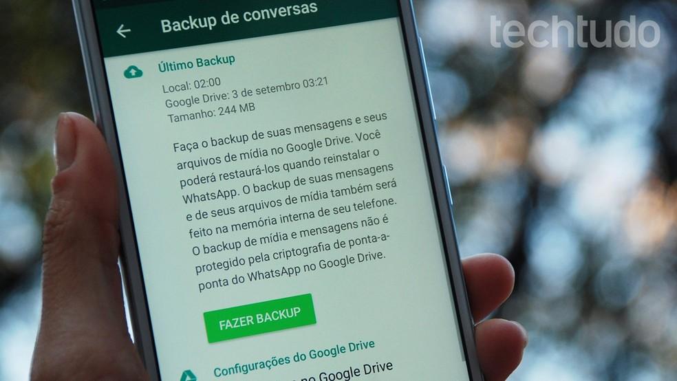 Backup do WhatsApp pode não funcionar entre Android e iPhone — Foto: Raquel Freire/TechTudo