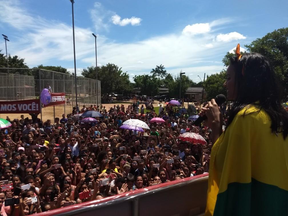 Vencedora do 'BBB18' agradeceu o carinho do público  (Foto: Aline Nascimento/G1)