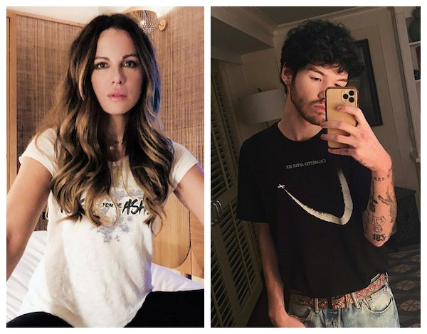 A atriz Kate Beckinsale e o músico Goody Grace (Foto: Instagram)