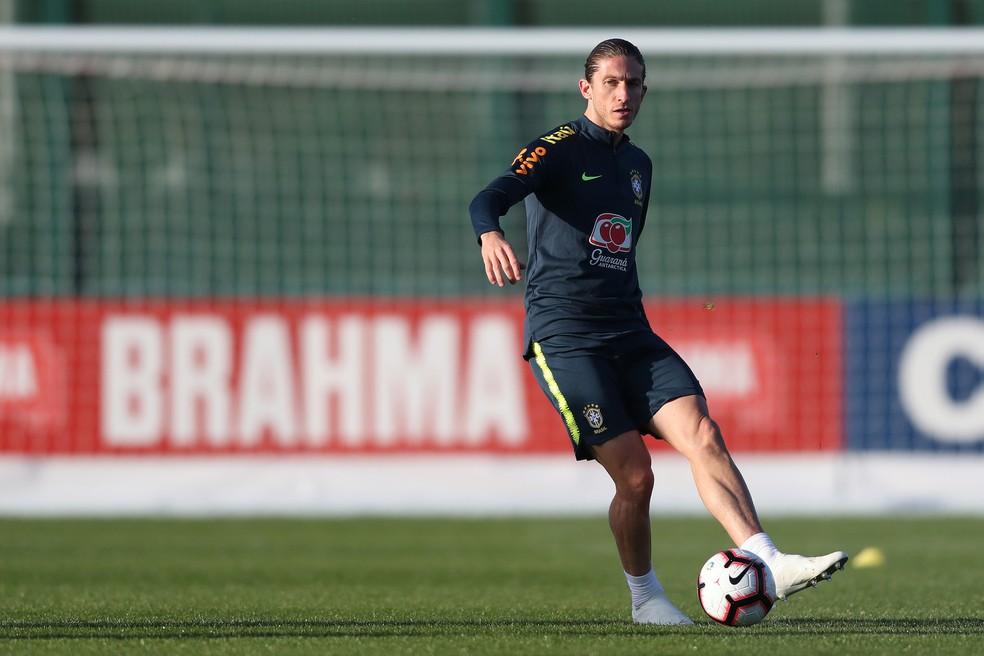 Filipe Luís Brasil seleção brasileira — Foto: Lucas Figueiredo/CBF