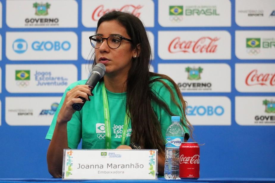 Embaixadora dos Jogos Escolares, Joanna Maranhão busca evoluir cultura do esporte