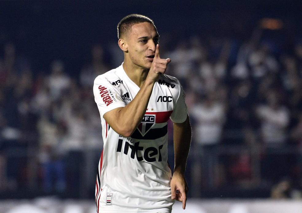 Antony foi o segunda promessa mais pesquisada durante o Brasileirão — Foto: Marcos Ribolli