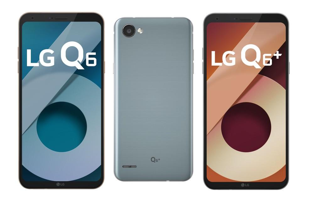 LG Q6 e LG Q6+, novos smartphones da LG. (Foto: Divulgação/LG)