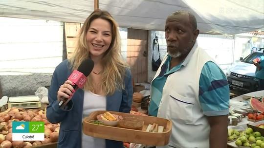 Luiza Zveiter surpreende feirante e prova que sabe cozinhar