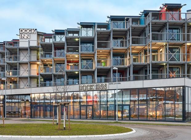 A empresa alemã Kinzo criou o primeiro albergue de contêiner do país (Foto: Reprodução Kinzo)