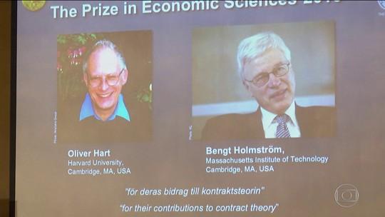 Oliver Hart e Bengt Holmström ganham o Prêmio Nobel de Economia