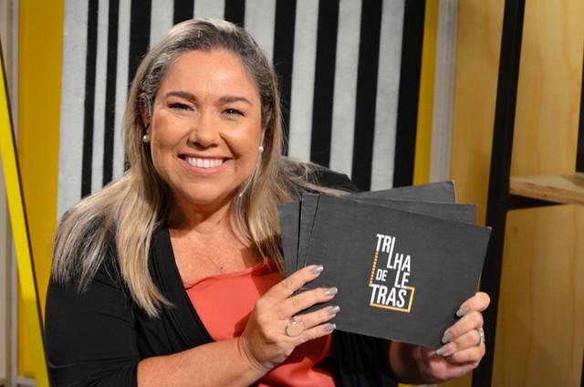 katy navarro, apresentadora do 'Trilha de letras' (Foto: Divulgação)