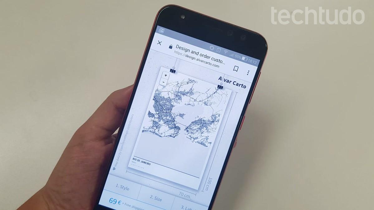 Como criar papel de parede com mapa para o celular