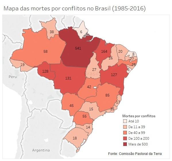 Mapa de conflitos (85-2016)
