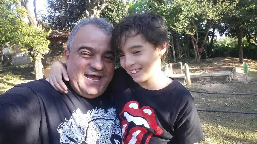 Leandro Ramires e o filho Benício. — Foto: Reprodução redes sociais