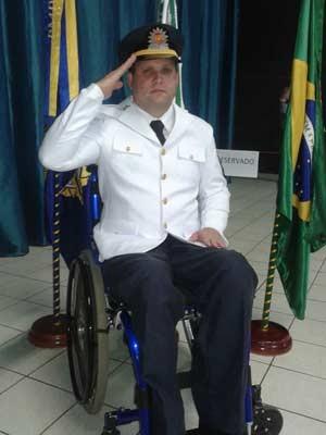 Sargento Héldio Pompilho em evento da corporação (Foto: Arquivo Pessoal/Reprodução)