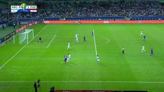 Veja os gols do empate entre Argentina e Paraguai no Mineirão