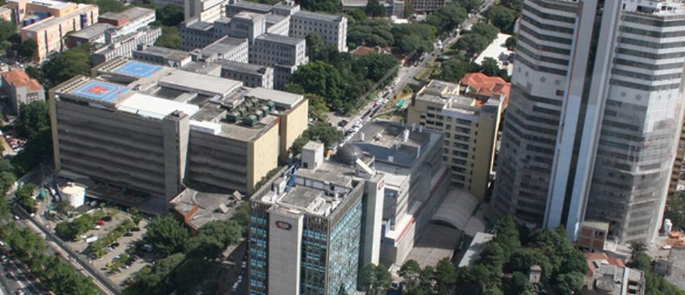 Vista do Hospital das Clínicas de SP  (Foto: Reprodução/ HCFMUSP)