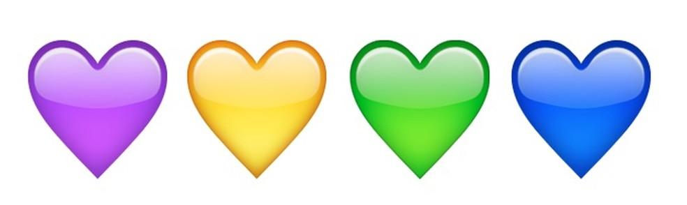 São várias as cores para os emojis de coração — Foto: Reprodução/TechTudo