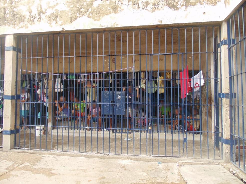 Casa de Custódia de Teresina tem a maior superlotação entre os presídios do Piauí — Foto: Divulgação/OAB-PI