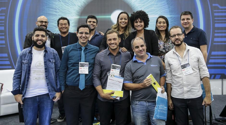Participantes do pitch final da Feira do Empreendedor SP 2018 (Foto: Divulgação)