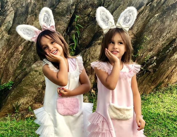Maya e Kiara, filhas de Natália Guimarães e Leandro do KLB (Foto: Reprodução)