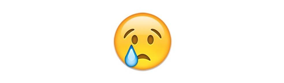 Este emoji tem mais a ver com mágoa do que com tristeza — Foto: Reprodução/TechTudo