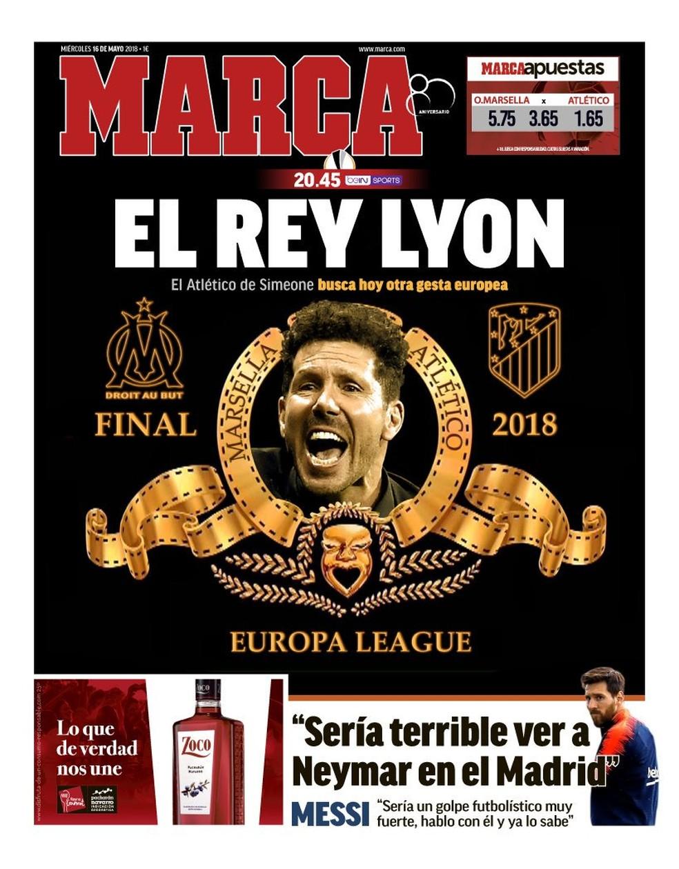 O Rei Lyon: decisão é destaque na imprensa espanhola (Foto: Reprodução / Marca)