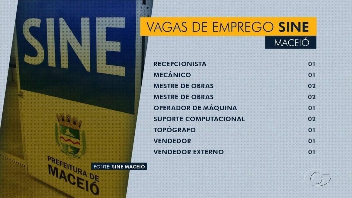 60 vagas de emprego são ofertadas pelo Sine Maceió
